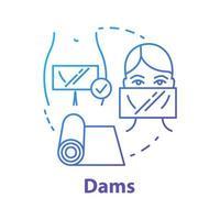 ícone do conceito de represas azul vetor