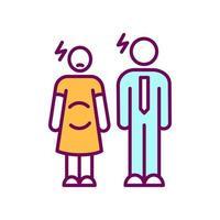 mulher grávida e homem ícone de cor rgb vetor