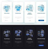 tela da página de integração do aplicativo móvel ux design vetor
