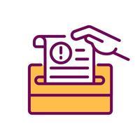 ícone de cor rgb do documento vetor