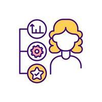 ícone de cor rgb de status de emprego vetor