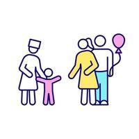ícone de cor rgb de adoção vetor