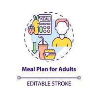 plano de refeição para ícone de conceito de adultos vetor