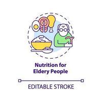 ícone do conceito de nutrição para idosos vetor