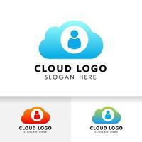 design de ícone de tecnologia de nuvem privada. elemento de vetor de nuvem