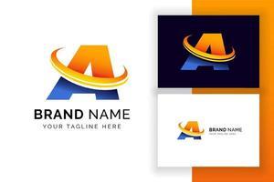 carta digital, um modelo de design de logotipo. ícone de letra do alfabeto techno. vetor