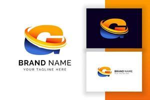 modelo de design de logotipo digital letra g. ícone de letra do alfabeto techno. vetor