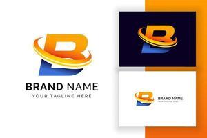 modelo de design de logotipo digital letra b. ícone de letra do alfabeto techno. vetor