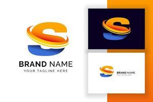 modelo de design de logotipo digital letra s. ícone de letra do alfabeto techno. vetor