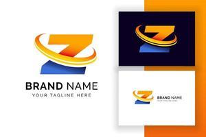 modelo de design de logotipo digital letra z. ícone de letra do alfabeto techno. vetor