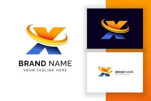 carta digital x modelo de design de logotipo. ícone de letra do alfabeto techno. vetor