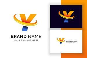 modelo de design de logotipo digital letra y. ícone de letra do alfabeto techno. vetor