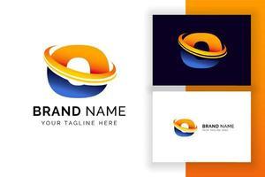 modelo de design de logotipo digital letra o. ícone de letra do alfabeto techno. vetor