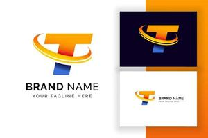 modelo de design de logotipo digital letra t. ícone de letra do alfabeto techno. vetor