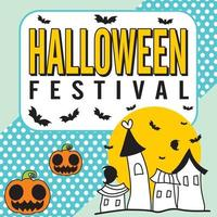 ilustração em vetor modelo papel de parede de festival de halloween