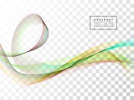 Design de onda abstrata em fundo transparente. Ilustração vetorial.