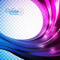Fundo abstrato do vetor com ondas violetas.