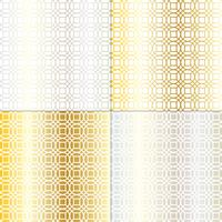 padrão de treliça geométrica prata e ouro mod círculo