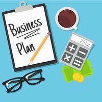 Banner de planejamento de negócios vetor