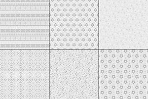 padrões de bordado de ilhó cinzento vetor