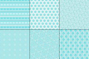 padrões de luz azul ilhó bordado vetor