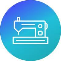 Ícone de vetor de máquina de costura