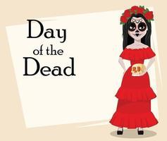 feriado tradicional do dia dos mortos vetor
