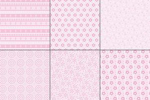 padrões de bordado de ilhó rosa pastel