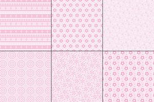 padrões de bordado de ilhó rosa pastel vetor