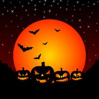 ilustração vetorial em um tema de Halloween com abóboras vetor