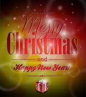Vector feliz Natal ilustração com design tipográfico