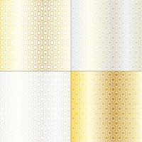 padrões de treliça geométrica mod prata e ouro