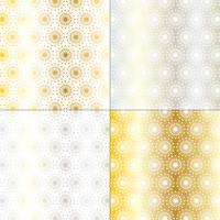 prata e ouro mod starburst padrões vetor