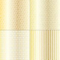 ouro mod e padrões geométricos brancos vetor