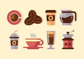 Clipart de elementos de café vetor