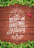Vector feliz Natal feriado e feliz ano novo ilustração