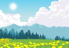 Papel de Parede Dia da Primavera vetor
