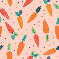 padrão de cenoura. padrão sem emenda de cenoura. fundo de cenouras vetor