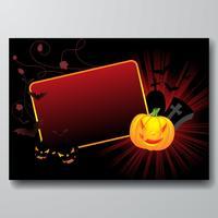 ilustração vetorial em um tema de Halloween com abóbora