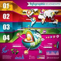 Vector design de tecnologia conjunto de elementos infográfico