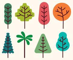 Conjunto de Clipart de Árvore vetor