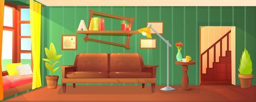 Design de sala de madeira vetor
