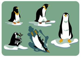 Vetor de conjunto de clipart de pinguins