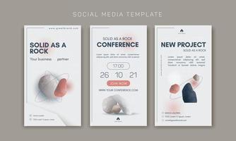 modelo de vetor para marketing de mídia social e formatos da web, coleção de identidade de marca
