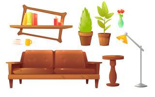Conjunto de design de móveis