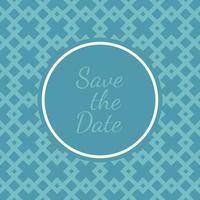 Convite de casamento salvar os cartões de data vetor