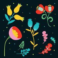 Pacote de vetores de flor Clipart