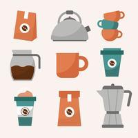 Clipart de arte de café vetor