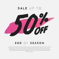 venda com até 50% de desconto no final da temporada. vetor