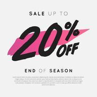venda com até 20% de desconto no final da temporada. vetor